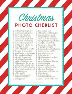 christmas time The holidays will soon be upon us and we all want to capture the wonder and beauty of this time of year. Here is a printable list of 50 Christmas photo ideas and photography prompts to get you inspired! Noel Christmas, First Christmas, Winter Christmas, All Things Christmas, Christmas Crafts, Christmas Ideas, Christmas Planning, Christmas To Do List, Christmas Makeup