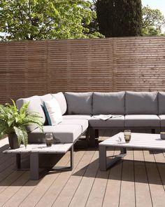 Corner Dining Bench, Corner Seating, Dining Table, Garden Sofa, Garden Seating, Garden Furniture, Furniture Ideas, Outdoor Lounge, Outdoor Dining