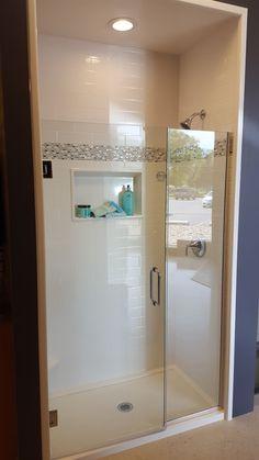 Shower Gallery Onyx Shower, Bathroom Shower Panels, Small Bathroom With Shower, Master Bathroom, Kitchen And Bath Remodeling, Bathroom Renovations, Kitchen Remodel, Beautiful Bathrooms, Modern Bathrooms
