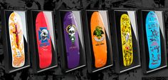 3rd round of signed and unsigned Bones Brigade decks in shadowboxes. http://bonesbrigade.com