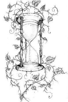 Hourglass. Tatted up. Tattoo. Nice Tattoo. Tattoo design. Tattoo sketch