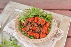 Warm Quinoa and Arugula Salad with Lemon Dressing