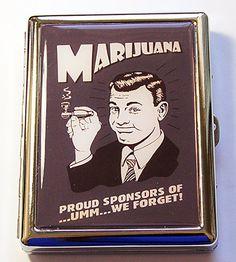 Funny cigarette case Marijuana case Retro Design by KellysMagnets