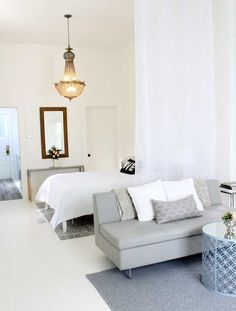 Small Studio Apartment Decorating jackie's stylish upper east side studio | light covers, lights and