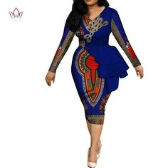 Image of Fashion 2019 spring Africa Dresses for women vestidos Print Fabric Elegant Africa Clothes Ruffles African Clothing BRW African Dresses For Kids, Latest African Fashion Dresses, African Dresses For Women, African Print Fashion, Africa Fashion, Women's Fashion Dresses, Peplum Dresses, Bodycon Dress, Africa Nature