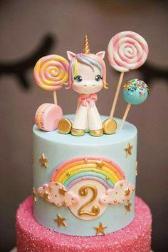 Unicorn cake I like the cake with sprinkles Pastel de unicornio Me gusta el pastel con chispas. Unicorne Cake, Cupcake Cakes, Macaron Cake, Cake Fondant, Cake Smash, Bolo Fack, Pony Cake, Unicorn Cake Topper, Unicorn Cake Design