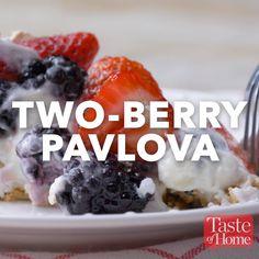 Two-Berry Pavlova Recipe