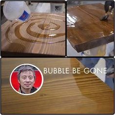 Epoxy table top finish excellent for bar tops. http://m.youtube.com/watch?feature=share&v=2dxxCHuwiN8&desktop_uri=%2Fwatch%3Fv%3D2dxxCHuwiN8%26feature%3Dshare