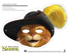 Shrek Photo Booth Props: Free Printable Shrek Mask - Any Tots Printable Halloween Masks, Printable Masks, Photo Booth Background, Photo Booth Props, Disney Fan Art, Disney Fun, Disney Facts, Disney Movies, Disney Characters