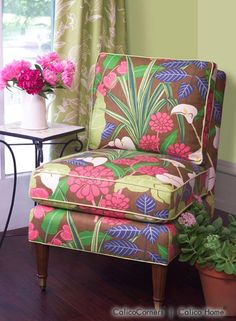 Sinclair Chair in Rowlily/Caribe. Image: calicocorners.com.
