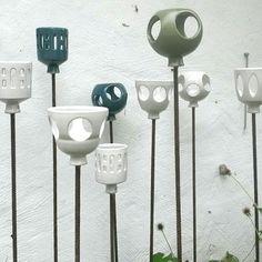 Mindre #ljuslyktor för #trädgård #keramik #ceramics