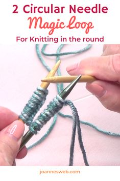 Round Knitting With Magic Loop - Use Two Circular Needles For Round Knitting Magic Loop Knitting, Knitting Basics, Knitting Help, How To Start Knitting, Easy Knitting, Knitting Stitches, Knitting Projects, Knitting Patterns, Knitting Tutorials
