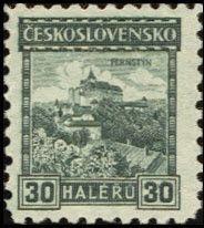Sello: Pernštejn castle (Checoslovaquia) (Castles, landscapes and cities) Mi:CS 258,Sn:CS 126,Yt:CS 230,AFA:CS 123,POF:CS 217