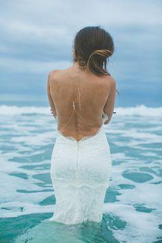 STUNNING Backless Beach Wedding Dress by Katie May  Wedding Blog   Confetti Daydreams