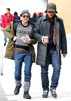 Robin Wright and fiance Ben Foster taking a stroll through chilly Vancouver on Feb. 2