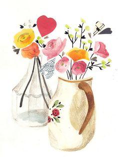 flowers by emma block, via Flickr