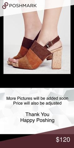 Free People + MTNG Paradise Patchwork Block Heels Paradise Patchwork Block Heel  Inspired by decades past, these patchwork suede cork heels feature an open toe. Adjustable back strap. New Never Worn. No Trades No Holds   MTNG + Free People   Suede Cork Made in Spain Free People Shoes Heels