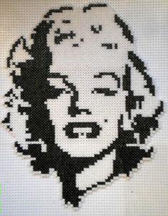 Marilyn Monroe portrait hama beads by Manondu15