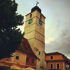 travel agency - www.ro Tower of Sibiu. Round Trip, Travel Agency, San Francisco Ferry, Romania, Tower, Club, Instagram Posts, Computer Case, Towers