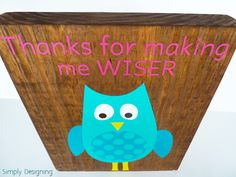 Simply Designing with Ashley: Silhouette GIVEAWAY and Promotion + Thanks for Making me WISER {Teacher Appreciation Gift}