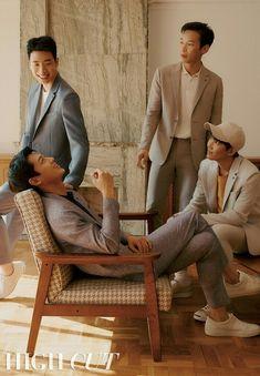 North Korean Soldiers of Crash Landing on You Get their High Cut Magazine Spotlight Hyun Bin, Korean Drama Movies, Korean Actors, Korean Dramas, Soldier Tattoo, Air Force Women, Park Bogum, Soldier Silhouette, Korean Tv Shows