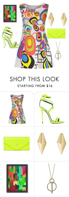 """Geometrics"" by chauert ❤ liked on Polyvore featuring Giuseppe Zanotti, Tory Burch, Americanflat and Pilgrim"