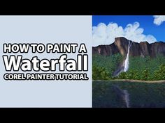 Learn an easy technique for painting a waterfall surrounded by lush trees using a Custom Image Hose Brush Nozzle made by Aaron Rutten. This painting was crea...