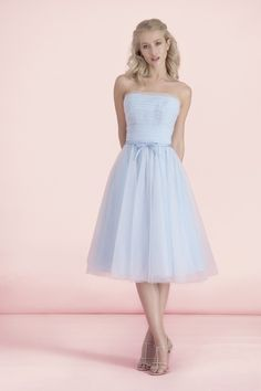 Kelsey Rose. 12523. Romantic and dreamy lightweight tulle carefully pleated over soft satin lining, this dress is sugar, spice and all things nice.