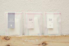 Lencinhos para lágrimas com papel vegetal... Simples e lindo!