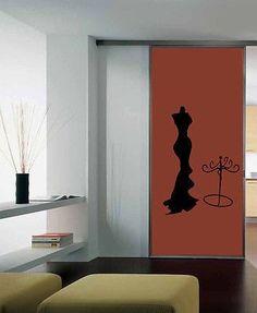 WALL VINYL STICKER DECALS ART MURAL Fashion Female Mannequin Shop Window A1565