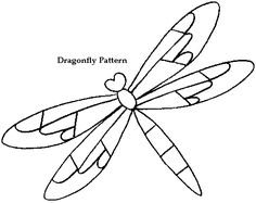 Dragonfly pattern from All Free Crafts. This was used for stained glass. Perhaps we could use it with our window paints on recycled toy acrylic sheets.