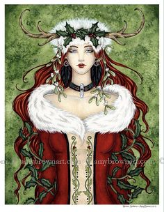 HOLIDAY Winter Solstice Fairy 8.5x11 PRINT by Amy Brown