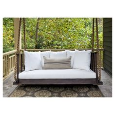 cushioned porch swing