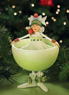 Patience Brewster Marguerite Magarita Ornament - I also lust after her entire nativity series.  Fabulously creative artistic eye.  Would be a collector but, alas, a tree full of PBs would be out of my price range (I'd collect her before Radko - that's how much I love her pieces)