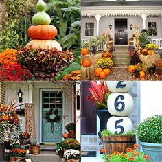 25 splendid DIY fall outdoor decorations for your front porch and door: super creative ideas using pumpkins, colorful planters, harvest wreaths and more! Lemon Lime Nandina, Regrow Vegetables, Fall Containers, Fall Planters, Outdoor Planters, Colorful Plants, Diy Greenhouse, Christmas Decorations, Outdoor Decorations