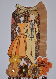 C Thru the Woods: Falling for You! By Designer Rosie Posie. Andrew stamp available at www.cthruthewoodsclearstamps.tictail.com