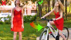 vélo robe jupe astuce