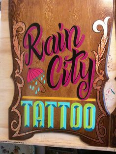 stunning hand painted sign