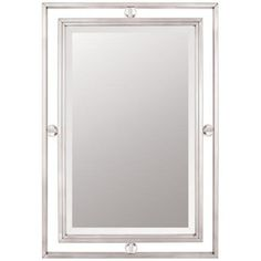 "Quoizel Downtown Collection 32"" High Nickel Wall Mirror - #N9234 