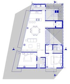 Image 26 of 34 from gallery of Just BE / Arquitectura en Movimiento Workshop. 2bhk House Plan, Model House Plan, Family House Plans, House Floor Plans, Detail Architecture, Architecture Plan, 20x40 House Plans, Small Modern House Plans, Triangle House