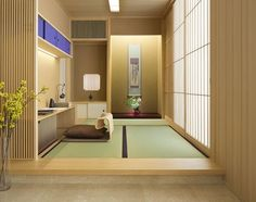 Japanese Interiors-11-1 Kindesign The Modernization of Japanese Design  Japanese culture remained largely independent during the ages of Western expansion. This is one of the main reasons that Japanese design is so authentic, original, and non-conforming. You see, Japan didn't begin to see signs of the outside world until the end of the Tokugawa Shogunate in 1868.