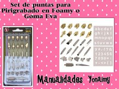 PUNTAS PARA  PIROGRABADO  EN FOAMY O GOMA EVA Videos, Youtube, Friends, Tutorials, Christmas Patterns, Make Flowers, Amigos, Boyfriends, Youtubers