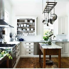 Beautiful photo of our farmhouse kitchen featured on @countrystylemag this…