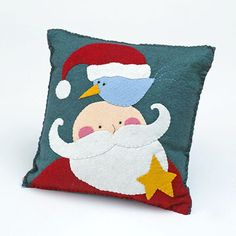 Jolly Ol' Man Applique Pillow Project; join bhg.com to access free pattern