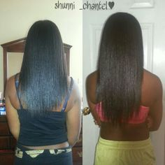 3months natural hair growth using biotin and sew in!:)
