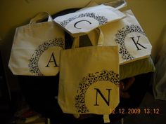 Bridesmaid tote bags using doilies Bridesmaid Tote Bags, Bridesmaids, Diy Tote Bag, Diy Wedding, Wedding Ideas, Paper Shopping Bag, Real Weddings, Sewing Crafts, Photo Galleries