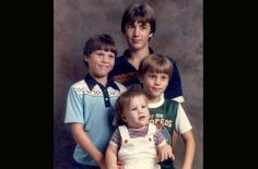 The Robertson's Back In The Day!  Can't remember oldest son's name, Jase, Willie, Jep.  Willie is so pretty he should have been a girl!