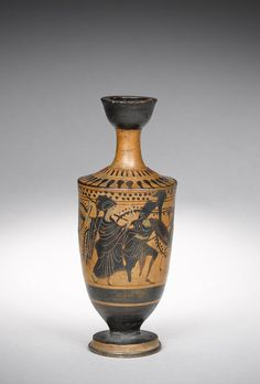 An Attic black-figure lekythos. Circa 5th Century B.C.