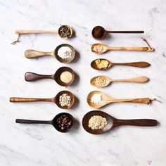 wooden spoons & scoops