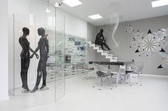 showroom SZKŁOKONCEPT design by Kreacja Przestrzeni, Poznań Poland